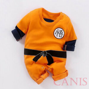 c88e7da9ddf Cute Toddler Baby Boy Girl KungFu Goku One Piece Romper Jumpsuit ...