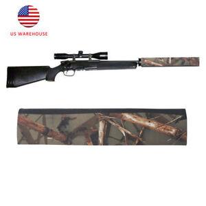 Tourbon-Camo-Neoprene-Rifle-Gun-Silencer-Cover-Case-Sound-Moderator-Suppressor