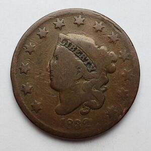 1832-Coronet-Matron-Head-Large-Cent-Scratched-Good