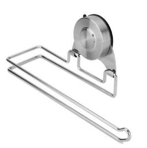 Details About Suction Cup Paper Towel Holder Brushed Nickel Stainless Steel Bar For Bathroom