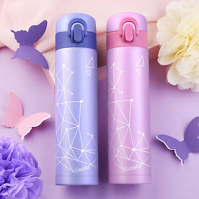 Beetle Vacuum Insulated Stainless Steel Water Bottle Thermos Travel Mug 12oz New