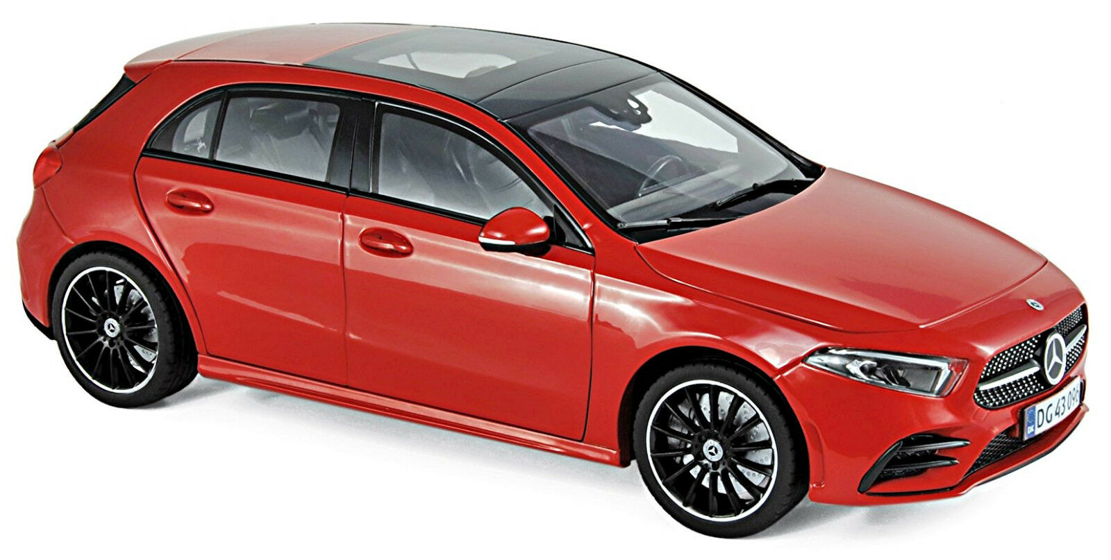 Mercedes-Benz a Class W177 Sedán 2018 rosso rosso 1 18 Norev