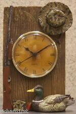 Clock Duck Hunting Rifle table shelf mantel table NIB