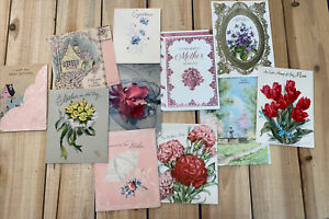 Vintage Greeting Cards Lot- 1940s And Up. 11 Cards- Ephemera- Mother- A