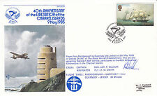 Jersey 9 de mayo de 1985 40th aniversario de la liberación Volado & firmado primer día cubierta