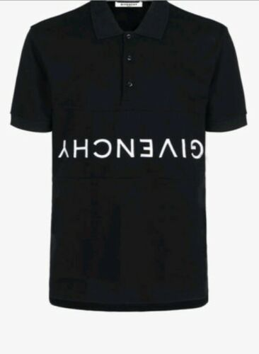 Givenchy Men's Black Polo Tshirt With Givenchy Rev