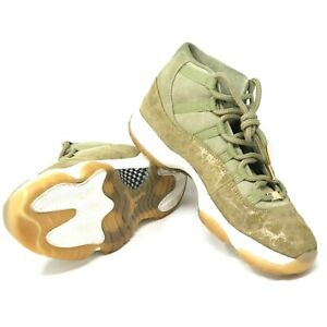 brand new dcff1 f5100 Nike Air Jordan 11 XI Retro Lux Neutral Olive Green Sail Gum ...