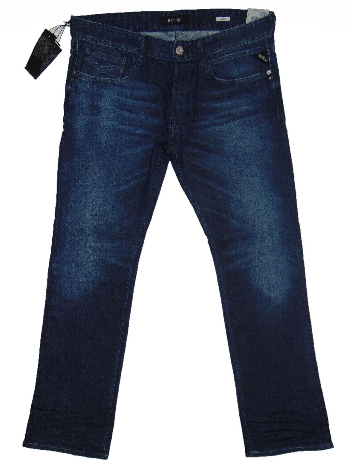 Replay LASER NEWBILL Straight Leg  W34 L32 Mens bluee Denim Jeans