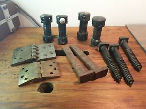 Vintage-screws-old-railway-nails-fencing-items-walkers-connect-Brass-hinges