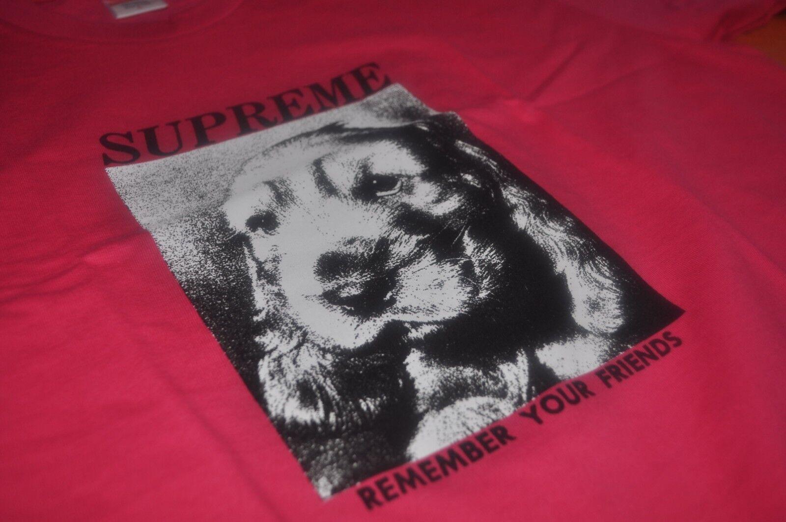 Supreme Dog Dog Dog T-shirt rosa Taglia Large L MADONNA LA VITA DI LOGO a76b01