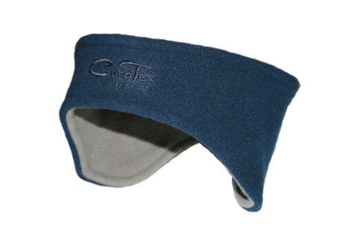 Gr. CeraTex Wende-Stirnband Fleece-Stirnband grau-dunkelblau Keramikfleece div