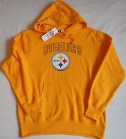 Pittsburgh Steelers Men's Hooded Sweatshirt Hoodie M L Xl 2x Yellow Nfl Team