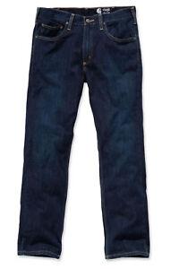 Carhartt-100067-Straight-Fit-Denim-Jeans-5-pocket-straight-cut-rough-blau-Neu
