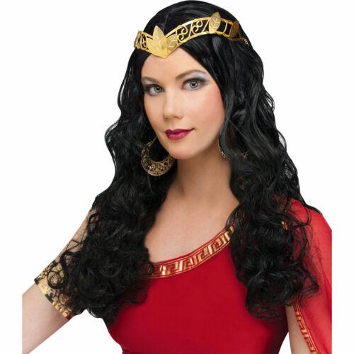 Venus Goddess Wig Black Long Hair Women/'s Fancy Dress Costume Wig