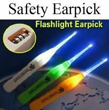 Adult Kid White LED Light Flashlight Ear Cleaning Remover Tweezer Earpick 3 in 1