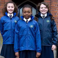 Boys Girls warm & light waterproof jacket coat & inner fleece size age 3 - 14