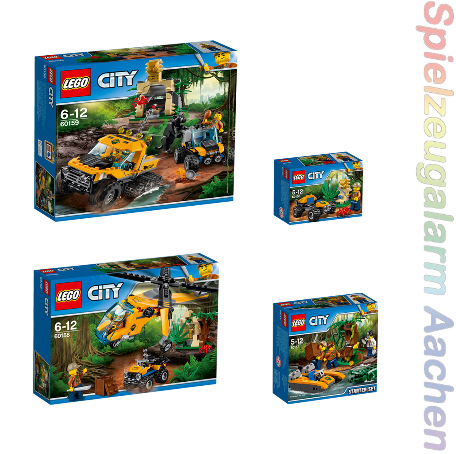 LEGO 4r Set Dschungel Mission Starter Helikopter 60156 60157 60158 60159 N7/17