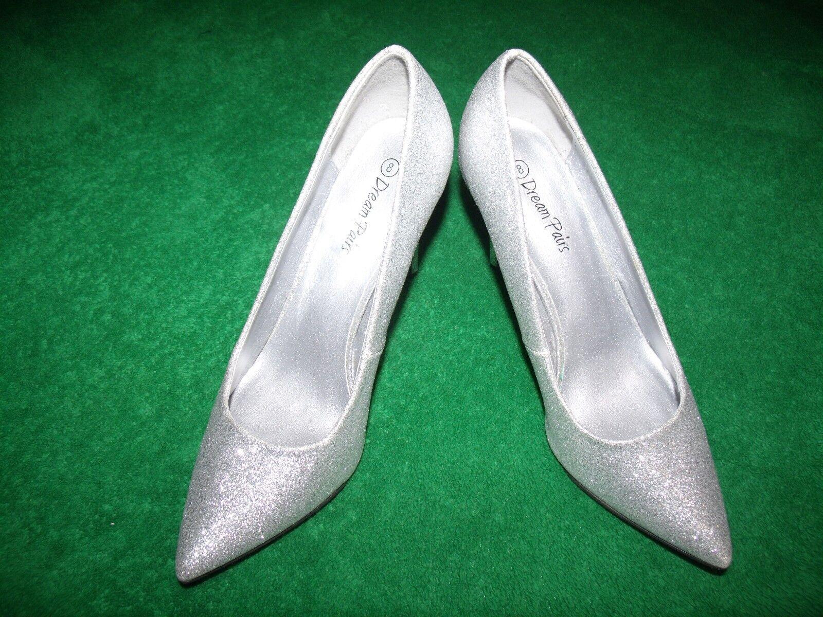 Women's Dream Pairs pumps Christain silver metallic dress pumps Pairs size 8 4a54ac
