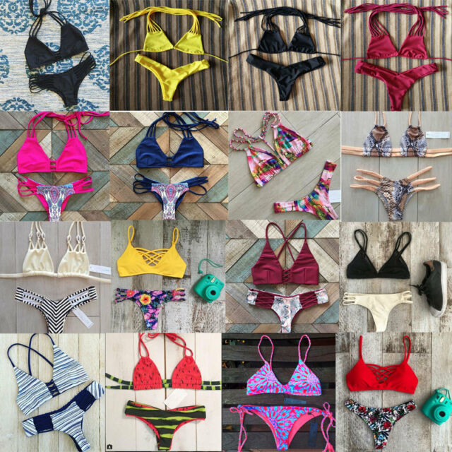 Sexy Women Bikini Set Push-up Padded Bra Bandage Swimsuit Swimwear Bathing Suit
