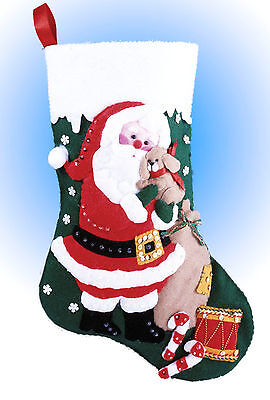 Felt Embroidery Kit Design Works Santa And Puppy