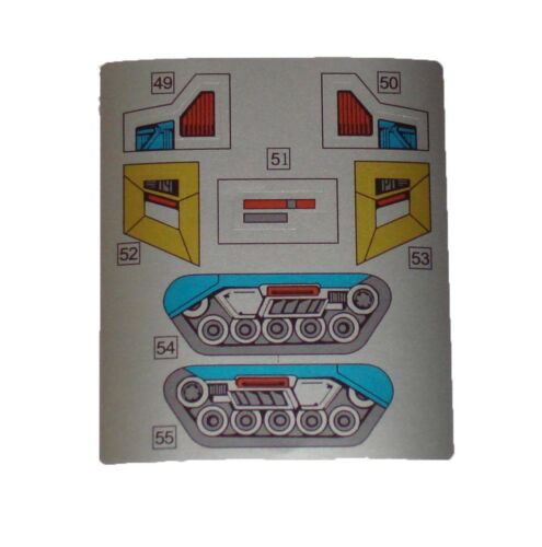 G1 Cog Complete Sticker Decal Sheet