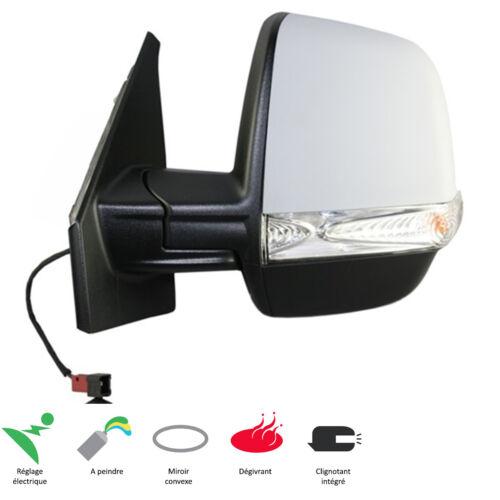RETROVISEUR FIAT DOBLO 2 LCV 2010-UP GAUCHE ELECTRIQUE DEGIVRANT APPRETE