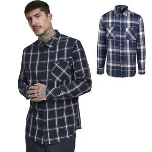 Urban-classics-Checked-Shirt-Button-down-Checkered-Long-Sleeve-Lumberjack