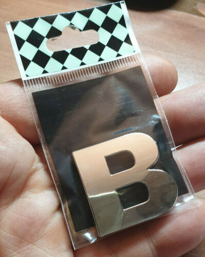 14 Stück 3D Chrombuchstaben Aufkleber 3 cm 14 Zeichen nach Wunsch mitteilen