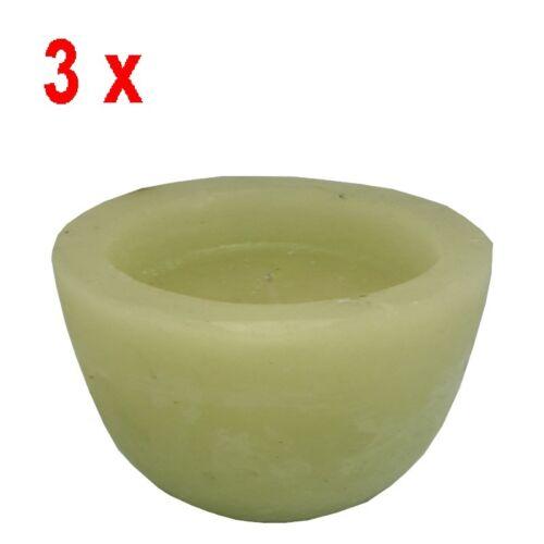 305g 12,46€//kg -3 Stück hellgrün 28 Stunden brennen Kerzen geruchlos