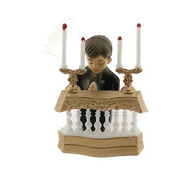 2 Communion Plastic Statue Cake Decoration Boy praying at alter