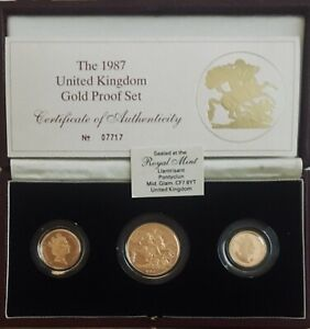 NORTHERN IRELAND UK 1987 GREAT BRITAIN 7 OFFICIAL PRESTIGE PROOF SET