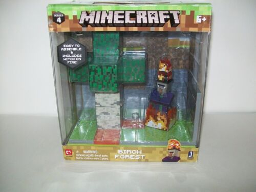 Minecraft Birch Forest Biome Action Figure Figurines Série 4 NEUF