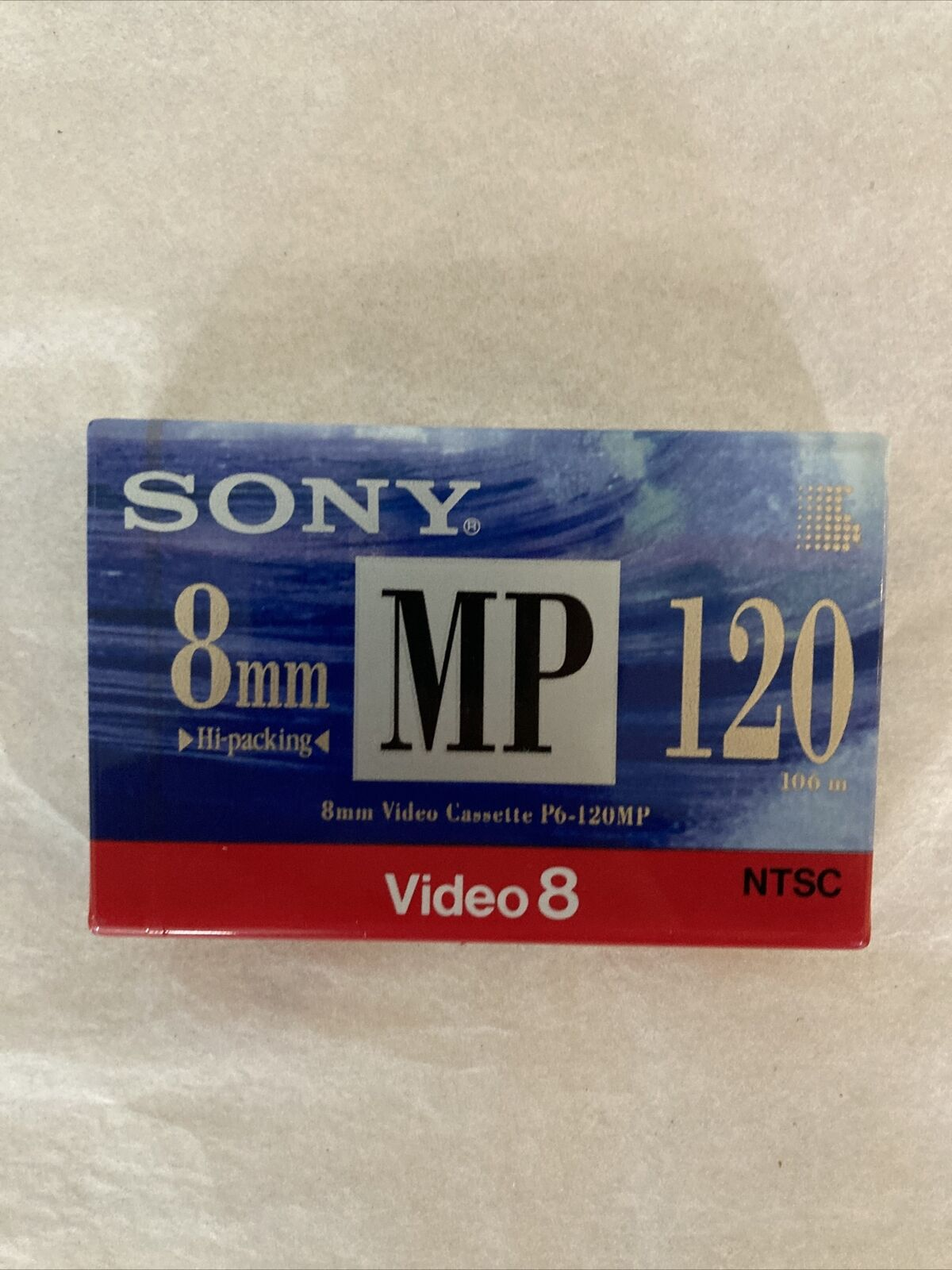 (LOT OF 2) NEW: SONY JVC 8mm VIDEO CASSETTE TAPE 120 MINUTES RECORDING TIME ~D22