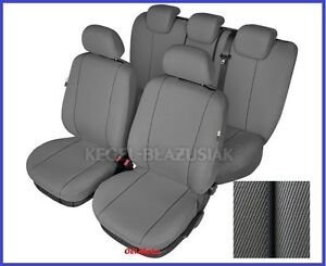 grey tailored seat covers full set for ford focus mk3 2010 2014 ebay. Black Bedroom Furniture Sets. Home Design Ideas