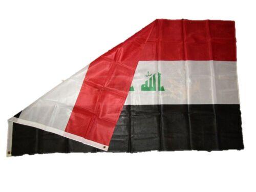 3x5 Iraq Iraqi Knitted Nylon Premium Quality Fade Resistant Flag 3/'x5/' Grommets