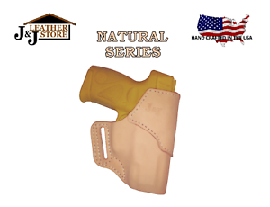Details about J&J SIG P320 COMPACT W/ CRIMSON TRACE LASER OWB FORMED  NATURAL LEATHER HOLSTER