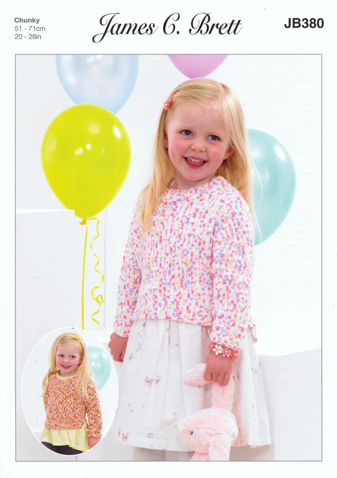 Knitting Pattern James C Brett JB398 Children/'s DK V Neck Vest /& Jumper
