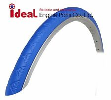 Pair Road Bicycle Solid Tires 700X24C Blue Puncture Free Tubeless Tire 700X23C