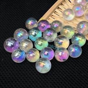 white-Rainbow-aura-sphere-titanium-seed-quartz-crystal-ball-healing-5pcs