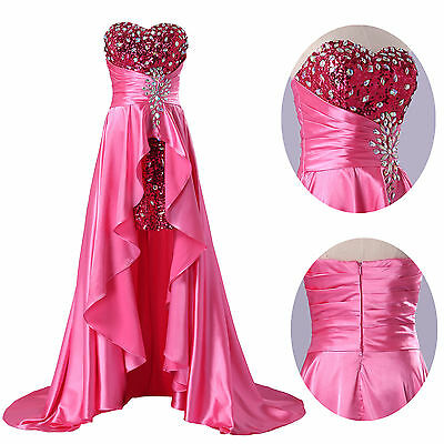 Luxury Beaded  Women Long Ball Gown Evening Prom Party Bridesmaids Wedding Dress