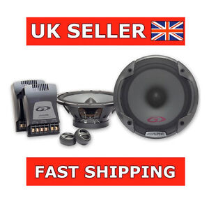 alpine spg 17cs 6 5 280w car audio 2 way component speakers tweeters ebay. Black Bedroom Furniture Sets. Home Design Ideas