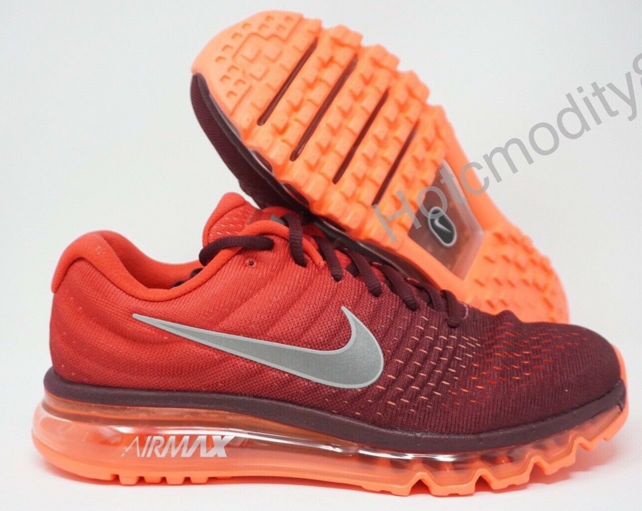 Nike Air Max 2017 Mens Running shoes Maroon White Gym Red 849559-601 Size 10.5