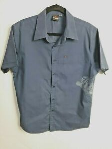 Rip-Curl-Men-039-s-The-Search-Navy-Blue-Short-Sleeve-Casual-Summer-Shirt-Size-Large