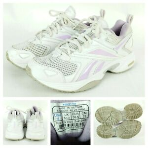 Reebok-Womens-Walking-Shoes-Size-8-M-DMX-Max-Cushioning-Purple-White-Athletic