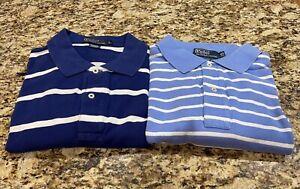 Men's Ralph Lauren Polo, SS Mesh Polo Shirts, XL Tall, XLT, Blue - LOT of 2!