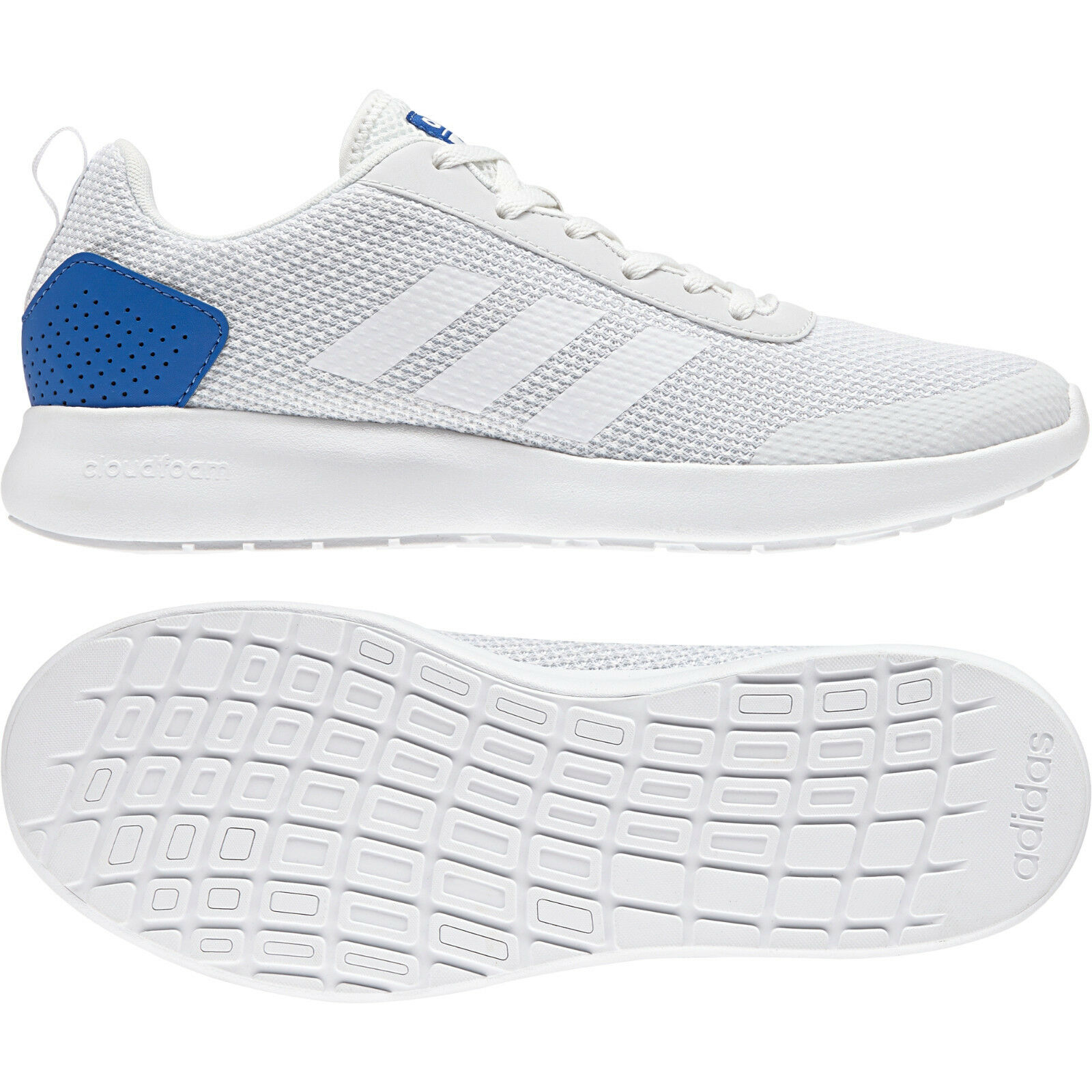 Adidas Men Running Shoes Cloudfoam Element Race Training White Trainers DB1457