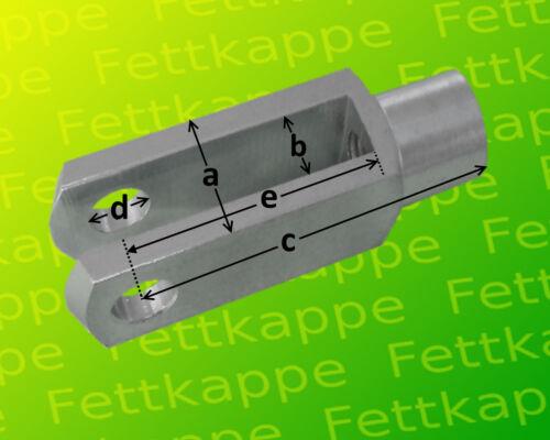 Gabelgelenk OHNE Zubehör verzinkt DIN71752 10 x Gabelkopf 6x24 M6
