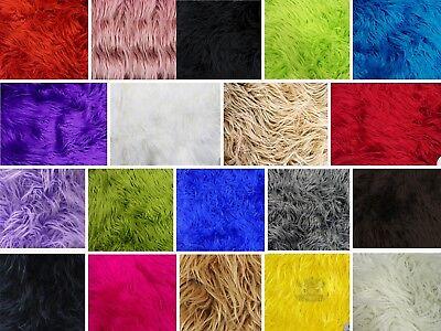 "64/""W Sold By the yard Faux Fur Long Pile MONGOLIAN SHEEP CHOCOLATE Fabric"