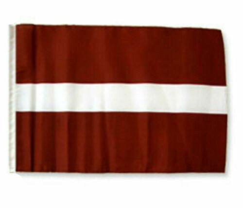 """12x18 12/""""x18/"""" Latvia Sleeve Flag Boat Car Garden"""