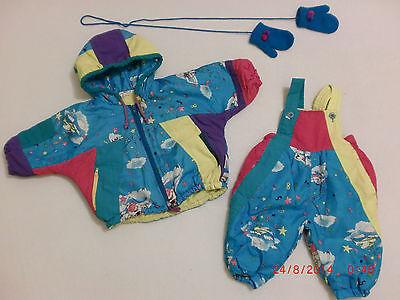2-tlg. Leichter Schneeanzug Von Liegelind + Handschuhe, Gr. 68 Letzter Stil